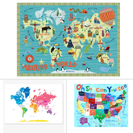 map themed wall art for kids 39 rooms