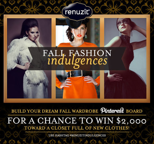 WIN $2,000 WITH PINTEREST CHALLENGE: SHOW US YOUR FALL FASHION INDULGENCES