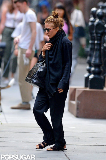 Mary-Kate Olsen wore all black in NYC.