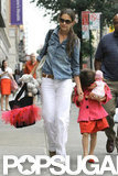 Katie Holmes and Suri Cruise went shopping in NYC.