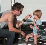 Colin Farrell doted on his son, Henry Farrell.