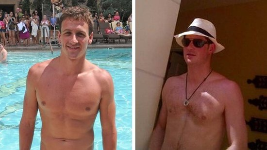Video: Prince Harry Challenges Ryan Lochte to a Race in Vegas — Watch Them Swim!