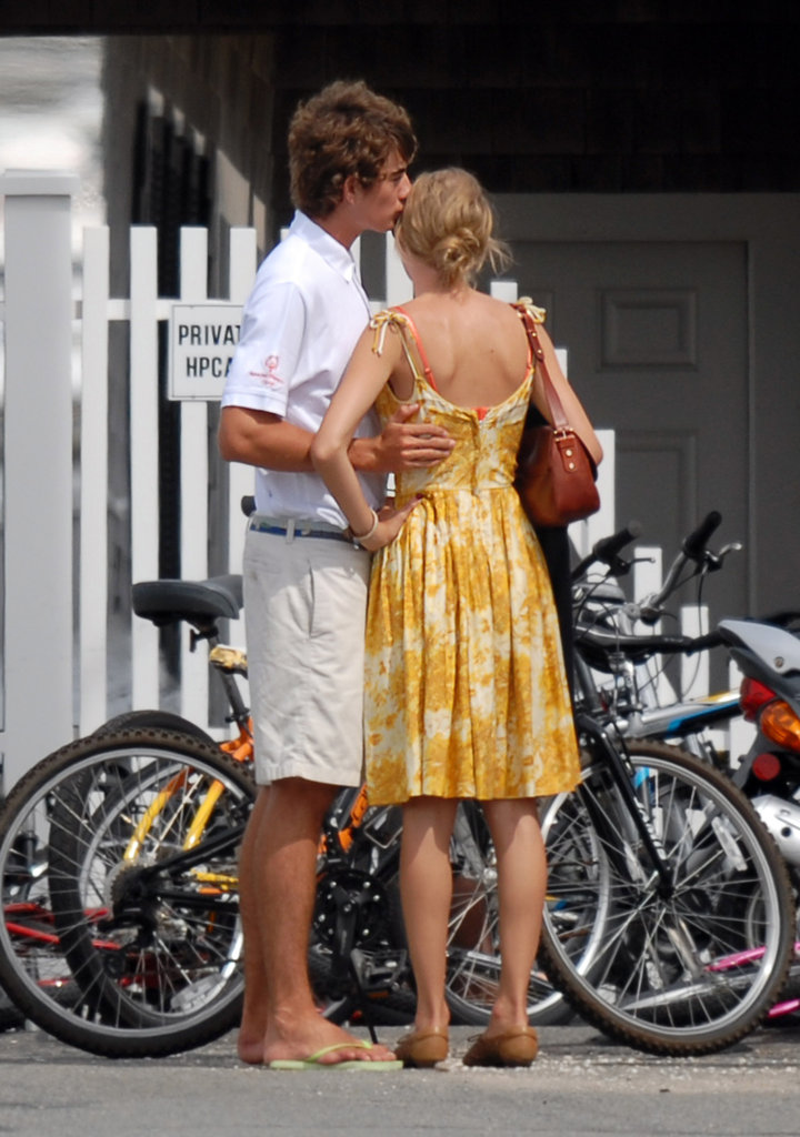 Conor Kennedy gave Taylor Swift a sweet kiss on the head.