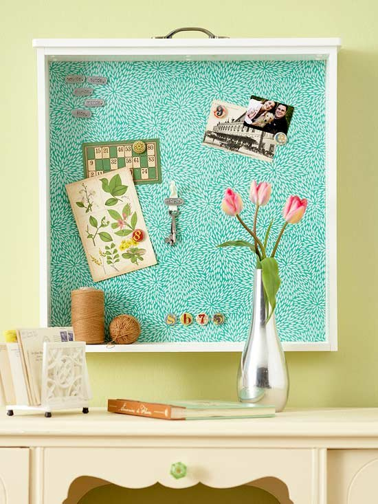 Drawer Bulletin Board