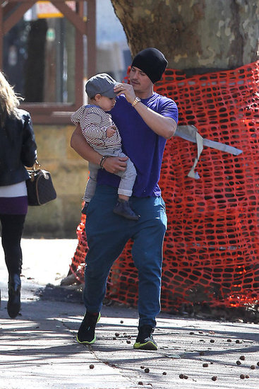 Orlando Bloom and Flynn Pictures Walking in Sunny Sydney