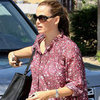 Jennifer Garner Wears a Floral Shirt