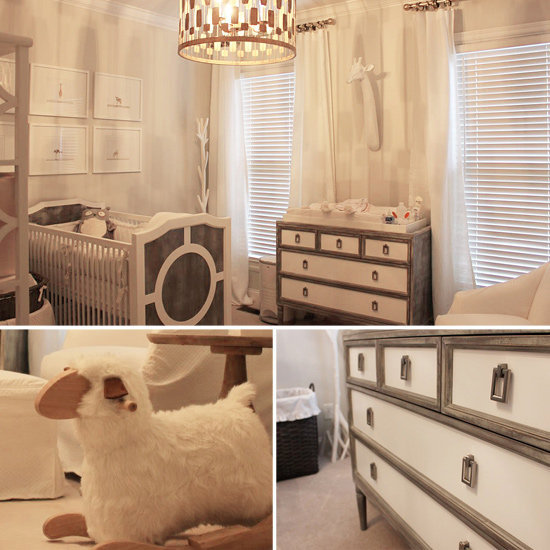 Piper's Soothing White-and-Gray Nursery