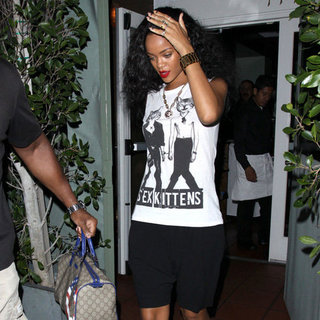 Rihanna Wearing Sex Kittens T-Shirt