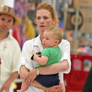 January Jones With Xander at Target