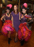 Eva Amurri caught up with some cancan dancers.
