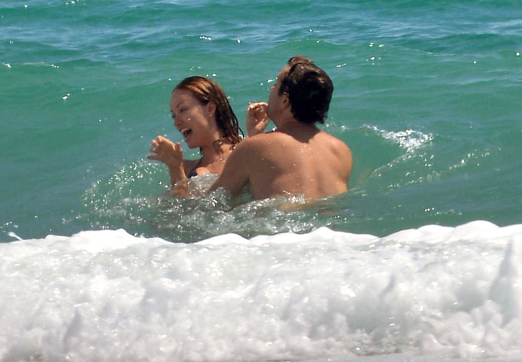 Olivia Wilde got playful in the ocean with Jason Sudeikis.