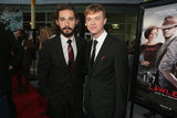 Co-stars Shia LaBeouf and Dane DeHaan posed at the LA premiere of Lawless.