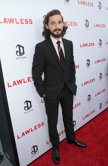 Shia LaBeouf posed on the red carpet at the LA premiere of his new film, Lawless.