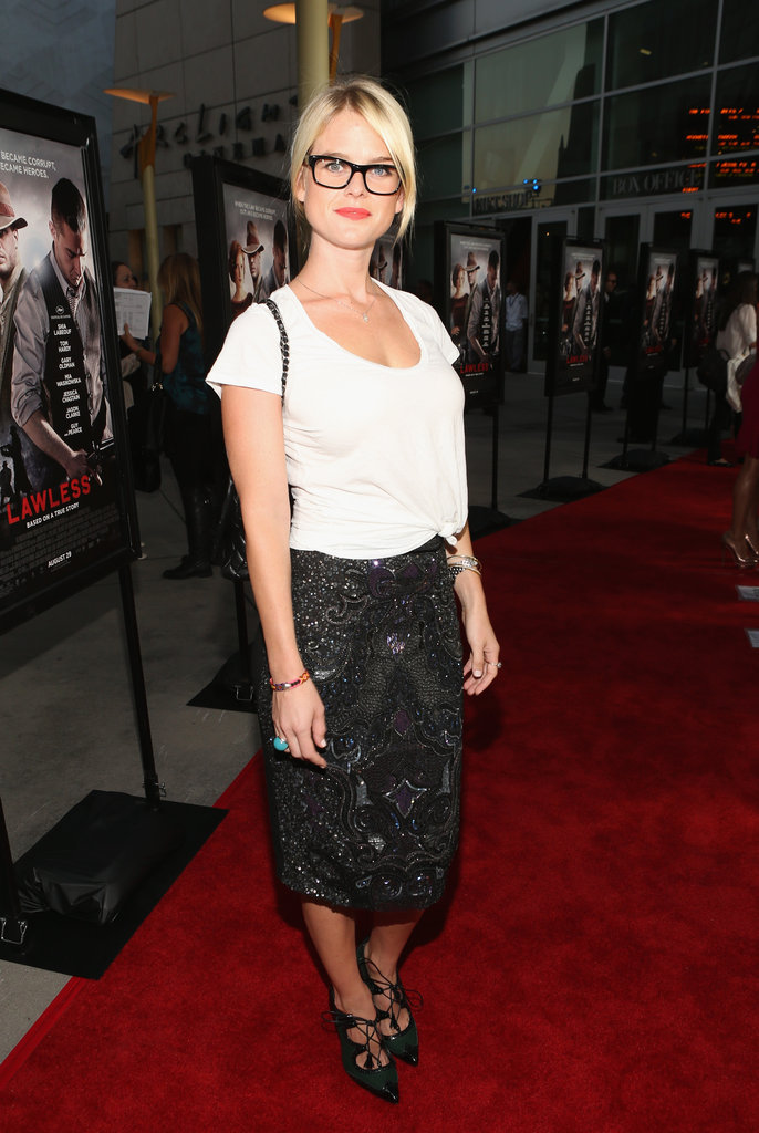 Alice Eve attended the LA premiere of Lawless.