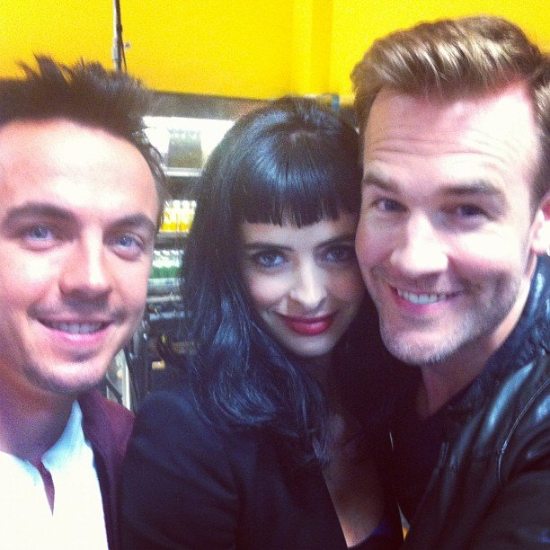 James Van Der Beek snapped a pic with Krysten Ritter and Frankie Muniz. Source: Instagram user vanderjames