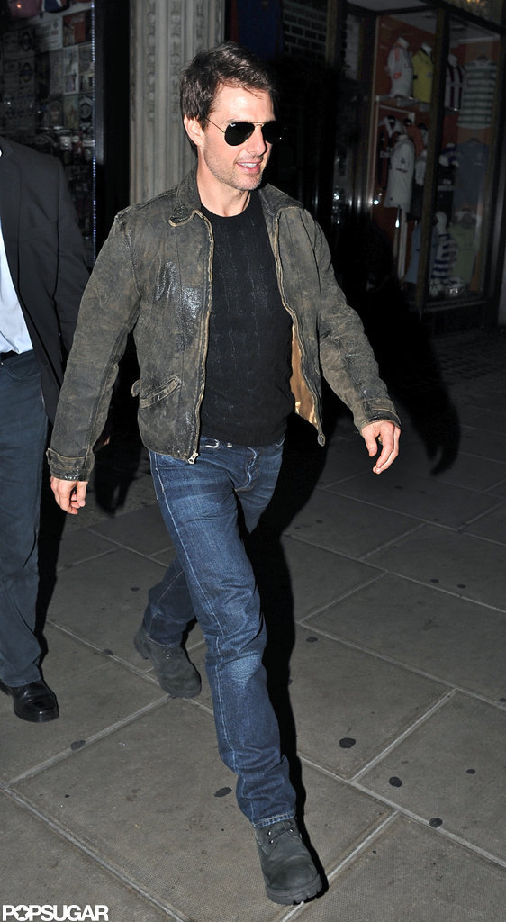 Tom Cruise left London's Chinawhite.