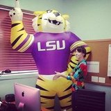 Whitney Cummings showed love for the LSU Tigers. Source: Instagram user therealwhitney