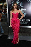 Ashley Greene pulled off a brilliant hue like a pro on her jaw-dropping Donna Karan Atelier fuchsia strapless confection at the LA premiere of The Apparition.