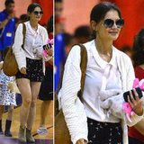 We're smitten with Katie Holmes's sweet printed shorts — get inspired to shop your own pair.