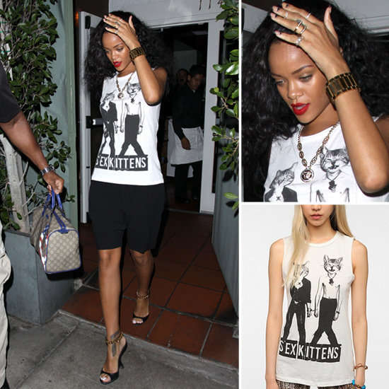 Digging Rihanna's cool-girl tee? Style up your own.