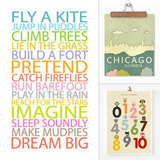 8 Inspirational Etsy Prints For Your Little One's Work Space