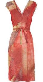 Vivienne Westwood Gold LabelTuck Union Jack-print silk-chiffon dress
