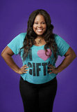 Amber Riley as Mercedes on Glee.