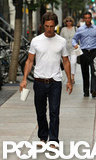 Matthew McConaughey walked to work.