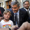 George Clooney at Obama Fundraiser in Switzerland