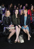 Downton Abbey's Laura Carmichael and Michelle Dockery teamed up with Michelle Williams for the London Mulberry show in February 2012.