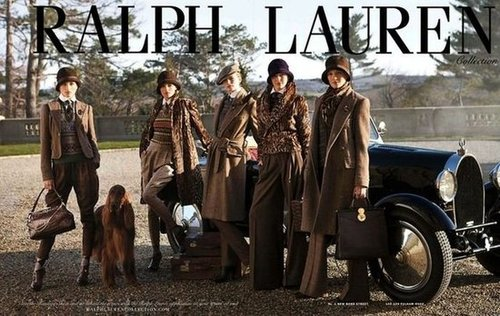 Ralph Lauren's tweedy-meets-wool layers perfection reminds us of the kind of Downton Abbey-inspired wardrobe we lust after.
