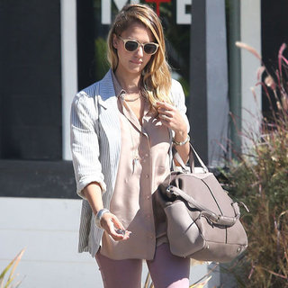 Jessica Alba Gray Bag