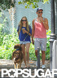 Amanda Seyfried and a friend strolled through the park.