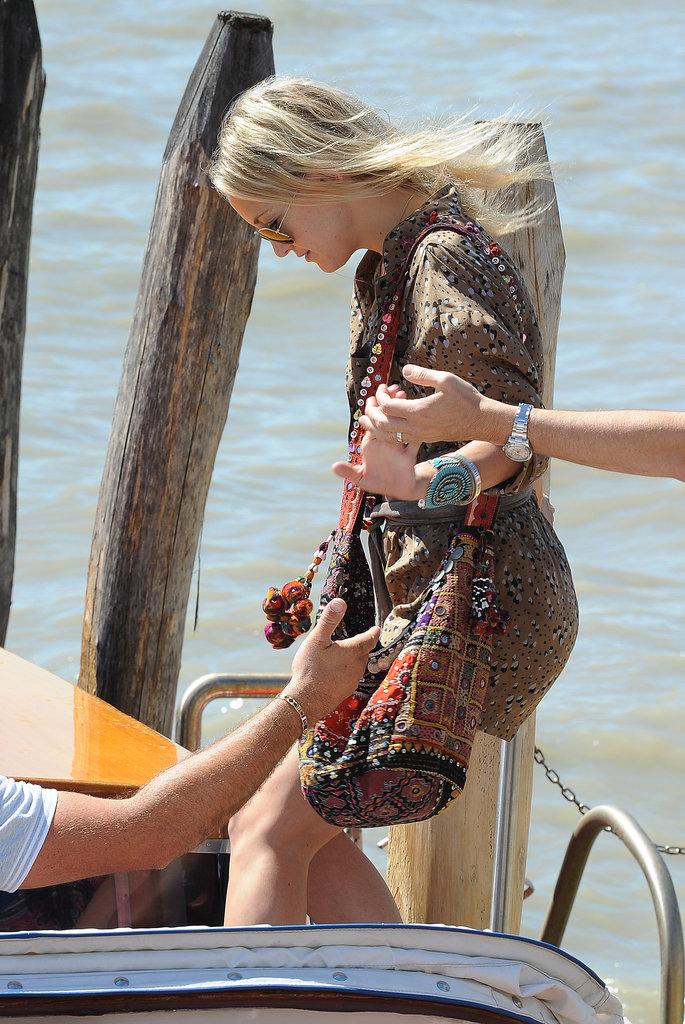 Kate Hudson arrived in Venice.