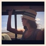 Christy Turlington checked out the view during a safari.  Source: Instagram User cturlington