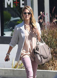 Jessica Alba did some shopping in Beverly Hills.