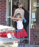 Michelle Williams, Matilda Ledger, and Jason Segel got ice cream.
