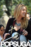 Blake Lively had a laugh before riding the Vespa.
