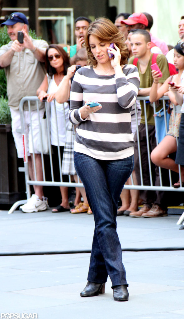 Tina Fey was at work on 30 Rock.