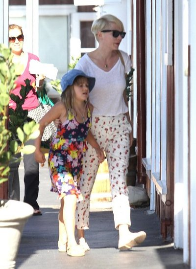 Michelle Williams took daughter Matilda for a treat in LA.