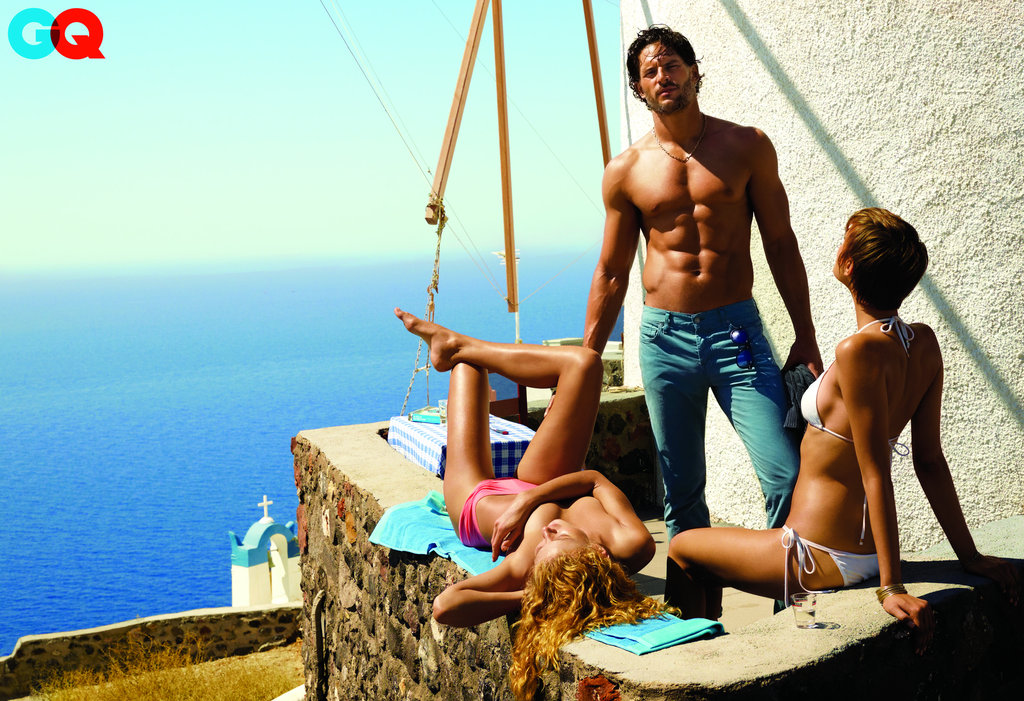 Joe Manganiello went shirtless for a spread in the July 2011 issue of GQ.