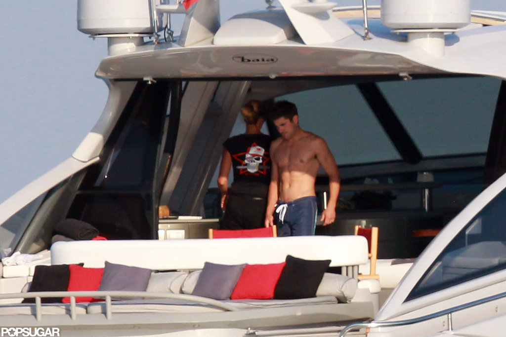 Zac Efron hung out shirtless in Saint-Tropez in July 2012.