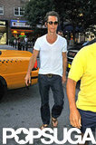 Matthew McConaughey wore a white t-shirt while out in NYC.