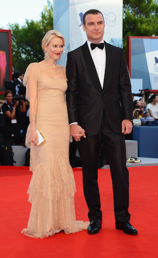 Naomi Watts and Liev Schreiber held hands on the red carpet for the premiere of The Reluctant Fundamentalist in 2012.