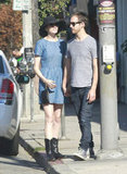 Anne Hathaway and Adam Shulman held hands while shopping in LA.