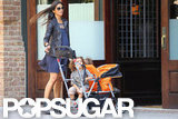 Camila Alves pushed Levi and Vida in a stroller in NYC.