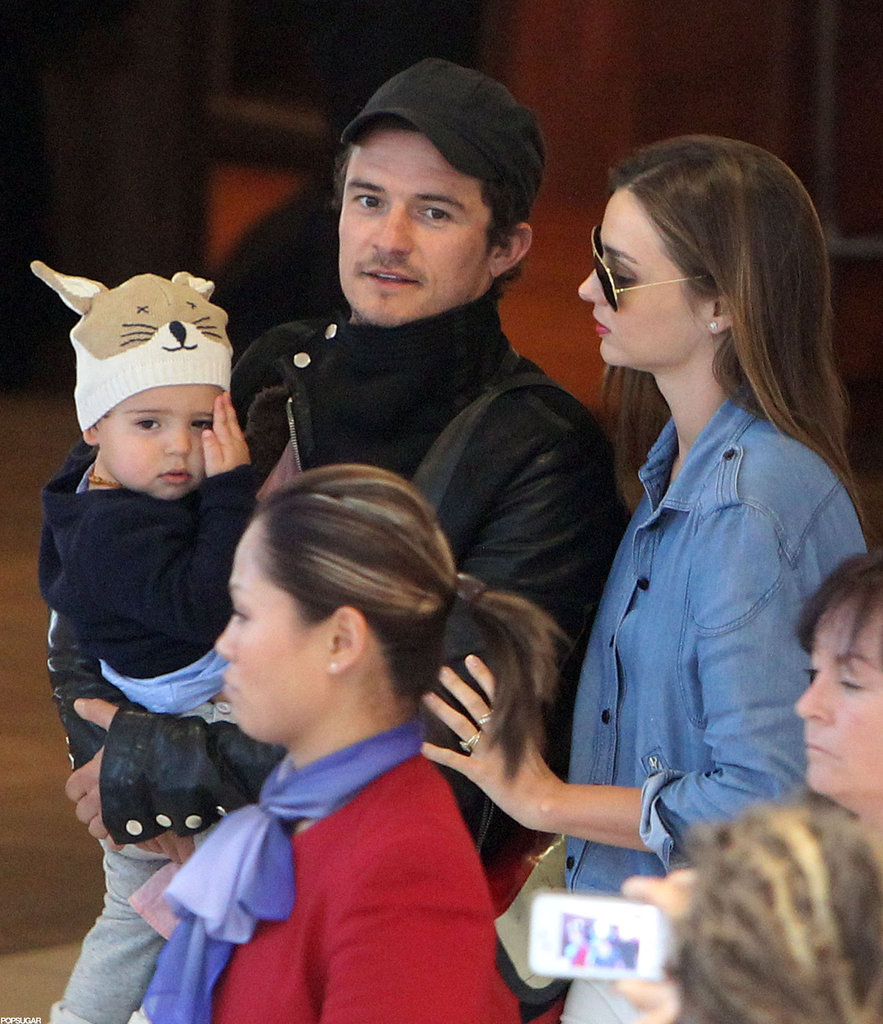 Orlando Bloom and Miranda Kerr visited Australia with their little man Flynn in August.