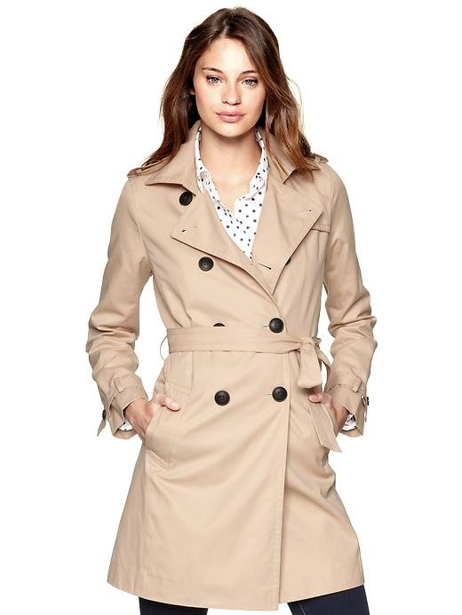 Lose the rain parkas and nylon jackets, when it comes to rainy, chilly weather, a classic trench ensures you're covered (both functionally and stylistically speaking).  Gap Classic Trench Coat ($128)