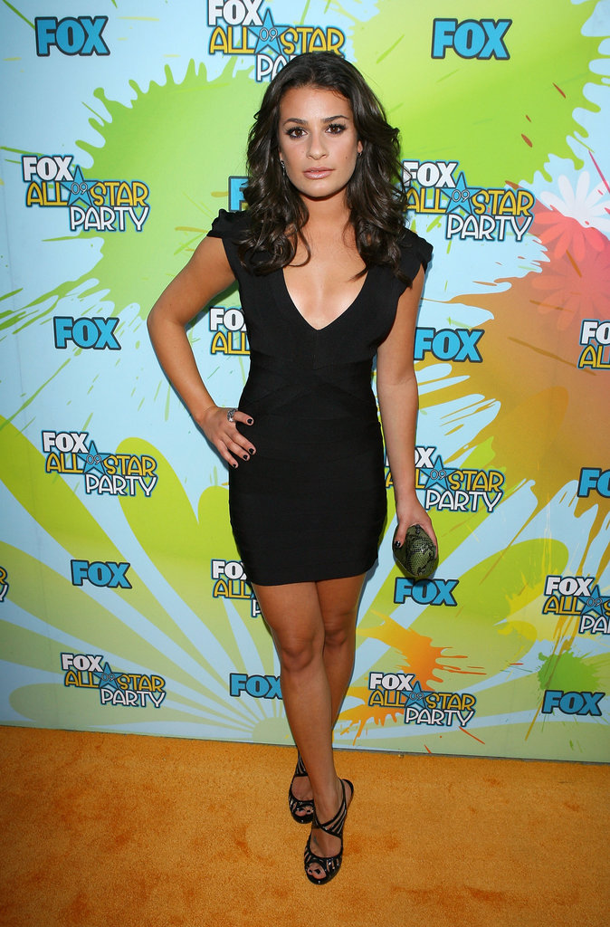 Lea rocked a low-cut black Hervé Léger minidress for the 2009 TCAs.