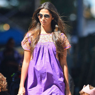 Camila Alves Wearing Purple Dress